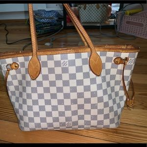 USED LOUIS VUITTON NEVERFULL PM AZUL BAG